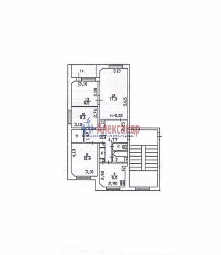 Комната в 3-комнатной квартире (76м2) на продажу по адресу Новоселье пос., 5— фото 5 из 5