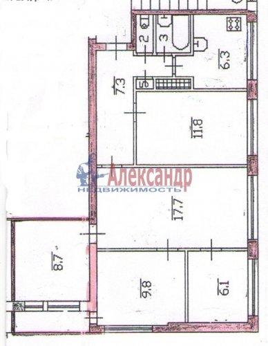 5-комнатная квартира (71м2) на продажу по адресу Бухарестская ул., 78— фото 3 из 16