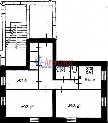 3-комнатная квартира (82м2) на продажу по адресу Среднеохтинский пр., 2— фото 3 из 17