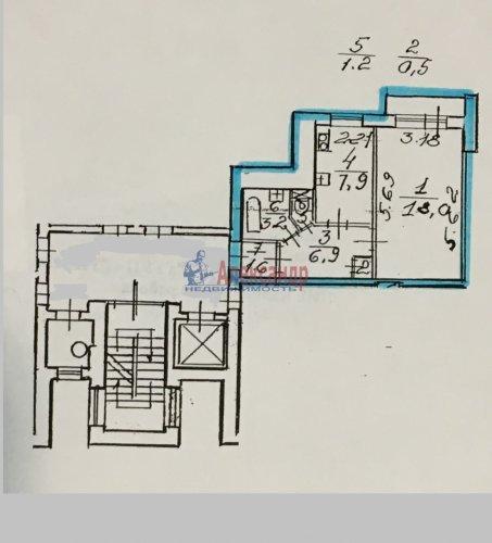 1-комнатная квартира (39м2) на продажу по адресу Пискаревский пр., 52— фото 16 из 16