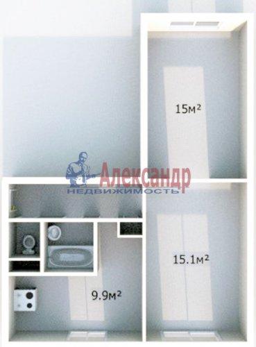 2-комнатная квартира (50м2) на продажу по адресу Искровский пр., 30— фото 1 из 10