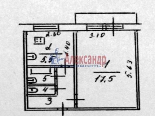 1-комнатная квартира (32м2) на продажу по адресу Всеволожск г., Вокка ул., 4— фото 1 из 1