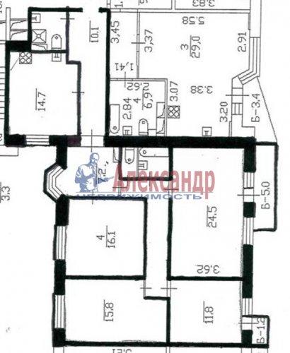 4-комнатная квартира (115м2) на продажу по адресу Косыгина пр., 17— фото 2 из 8