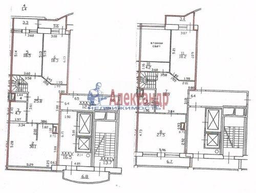 5-комнатная квартира (203м2) на продажу по адресу Дивенская ул., 5— фото 1 из 11