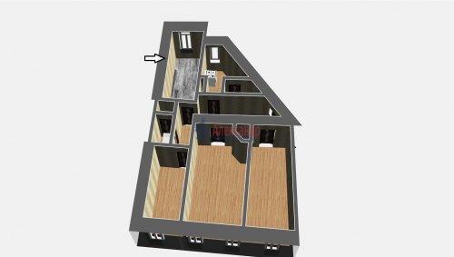 Комната в 4-комнатной квартире (90м2) на продажу по адресу Дивенская ул., 18— фото 3 из 4