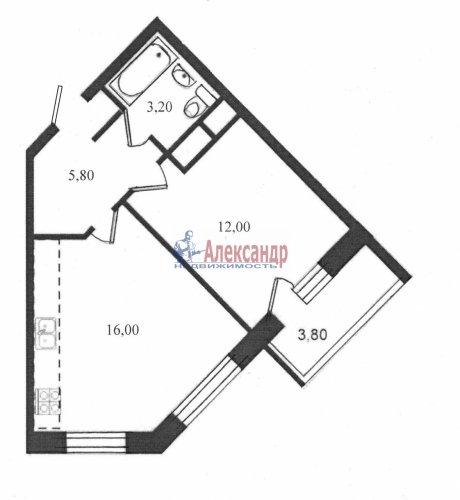 1-комнатная квартира (36м2) на продажу по адресу Шушары пос., Вилеровский пер., 6— фото 1 из 10