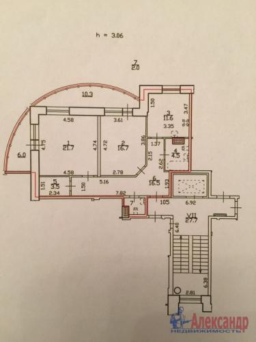 2-комнатная квартира (85м2) на продажу по адресу Глухая Зеленина ул., 2— фото 4 из 12