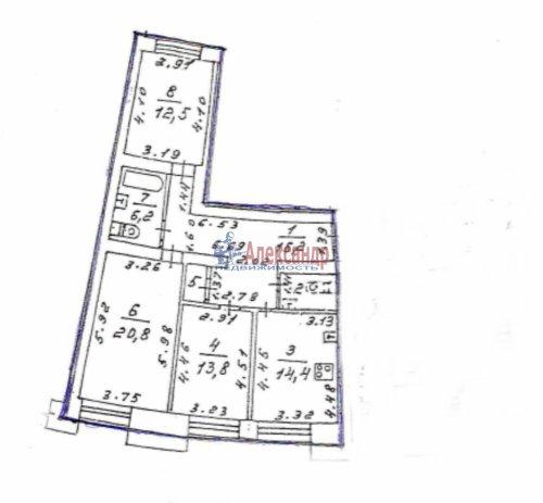 3-комнатная квартира (88м2) на продажу по адресу Комендантский пр., 11— фото 11 из 11