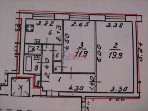2-комнатная квартира (52м2) на продажу по адресу Бухарестская ул., 23— фото 2 из 9