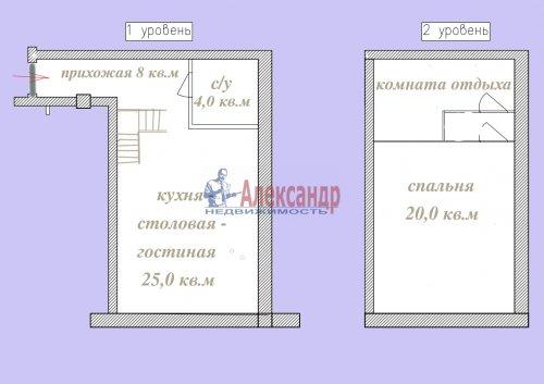 2-комнатная квартира (67м2) на продажу по адресу Всеволожск г., Культуры ул., 4/80— фото 4 из 12