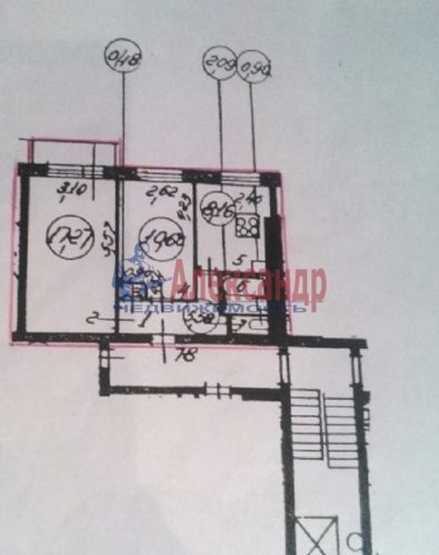 2-комнатная квартира (46м2) на продажу по адресу Большая Пороховская ул., 45— фото 10 из 12