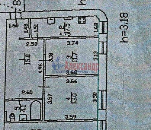 2-комнатная квартира (51м2) на продажу по адресу Введенская ул., 19— фото 9 из 9