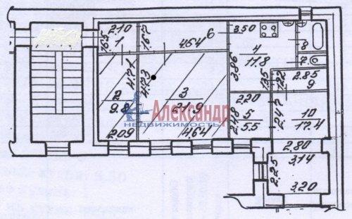 2 комнаты в 4-комнатной квартире (85м2) на продажу по адресу Клинский пр., 21— фото 3 из 7