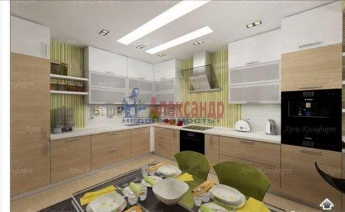 3-комнатная квартира (94м2) на продажу по адресу Луначарского пр., 11— фото 3 из 10