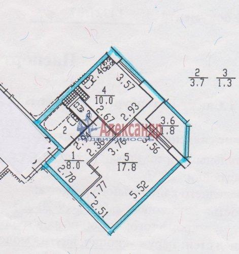 1-комнатная квартира (41м2) на продажу по адресу Науки пр., 17— фото 9 из 9