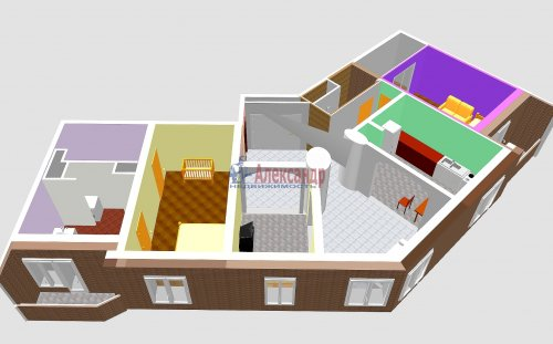3-комнатная квартира (123м2) на продажу по адресу Савушкина ул., 36— фото 19 из 19