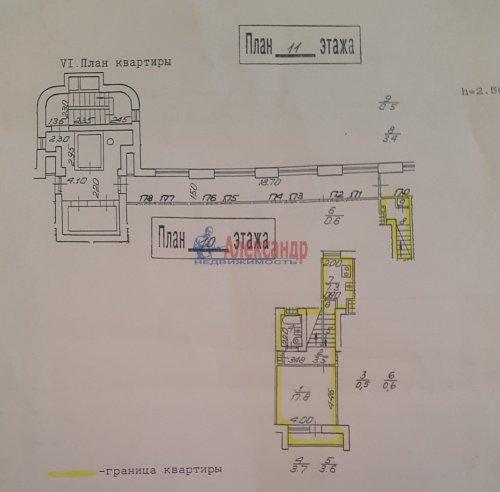 1-комнатная квартира (46м2) на продажу по адресу Канонерский о-в, 8— фото 5 из 9