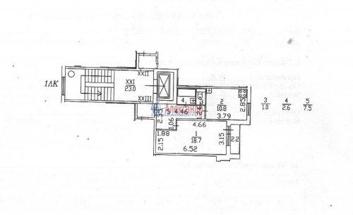1-комнатная квартира (41м2) на продажу по адресу Композиторов ул., 31— фото 9 из 10
