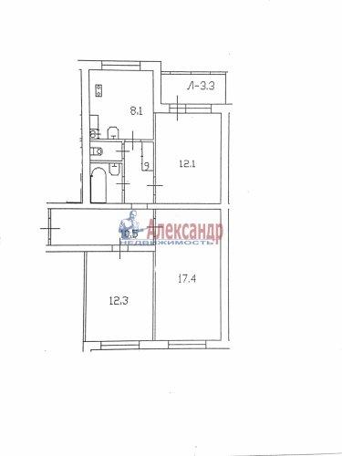 3-комнатная квартира (65м2) на продажу по адресу Энтузиастов пр., 46— фото 6 из 6
