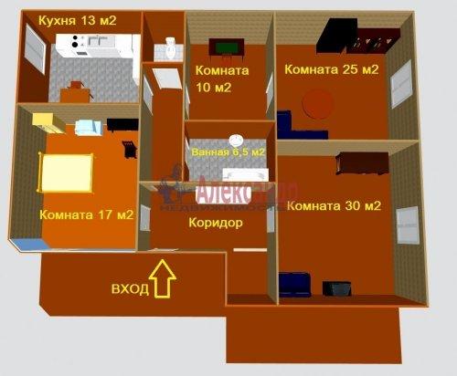 3-комнатная квартира (117м2) на продажу по адресу Выборг г., Ленинградское шос., 10— фото 6 из 15