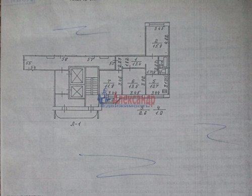 3-комнатная квартира (69м2) на продажу по адресу Беговая ул., 11— фото 1 из 1