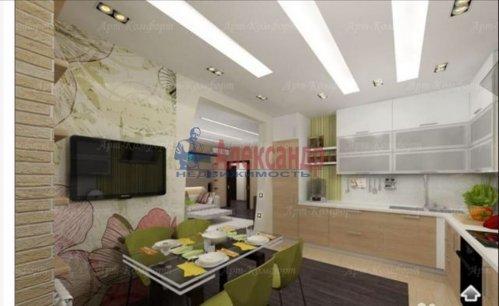 3-комнатная квартира (94м2) на продажу по адресу Луначарского пр., 11— фото 4 из 10