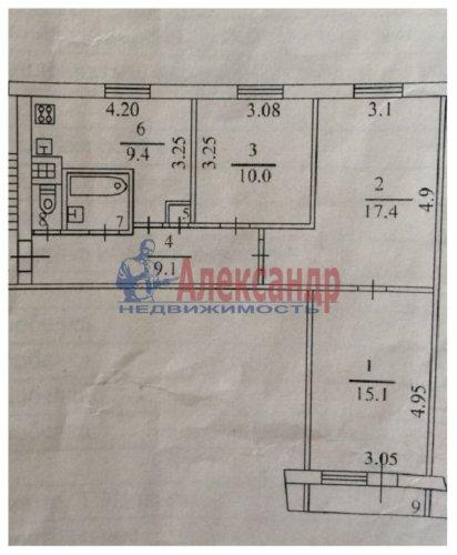 3-комнатная квартира (66м2) на продажу по адресу Кировск г., Северная ул., 3— фото 8 из 13