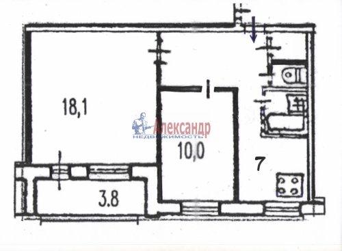 2-комнатная квартира (47м2) на продажу по адресу Дунайский пр., 26— фото 16 из 16