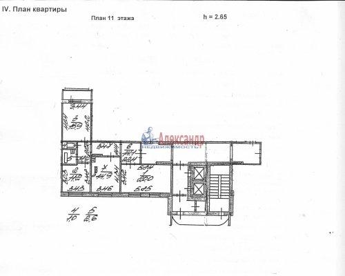 3-комнатная квартира (80м2) на продажу по адресу Авиаконструкторов пр., 39— фото 15 из 19