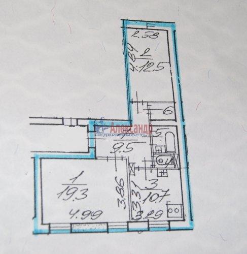 2-комнатная квартира (56м2) на продажу по адресу Просвещения просп., 53— фото 5 из 9