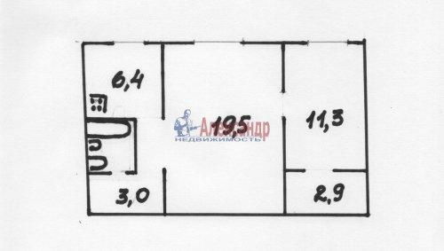 2-комнатная квартира (46м2) на продажу по адресу Ключевая ул., 9— фото 1 из 1