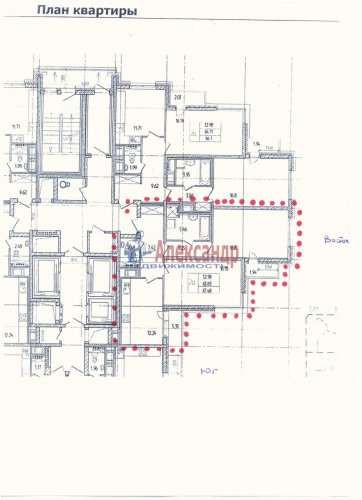 2-комнатная квартира (64м2) на продажу по адресу Дунайский пр., 7— фото 8 из 8