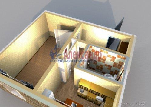 1-комнатная квартира (39м2) на продажу по адресу Ивановская ул., 29— фото 1 из 8