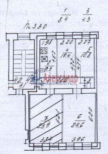 Комната в 4-комнатной квартире (89м2) на продажу по адресу Зверинская ул., 17а— фото 3 из 8