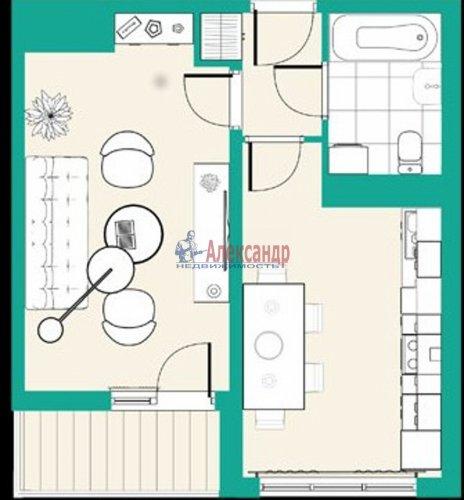 1-комнатная квартира (39м2) на продажу по адресу Рябовское шос.— фото 4 из 7