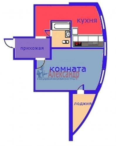 1-комнатная квартира (45м2) на продажу по адресу Всеволожск г., Доктора Сотникова ул., 15— фото 6 из 6