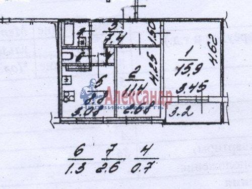 2-комнатная квартира (48м2) на продажу по адресу Металлострой пос., Полевая ул., 5— фото 3 из 14