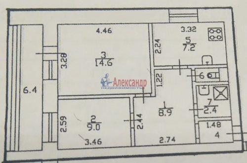 2-комнатная квартира (51м2) на продажу по адресу Народная ул., 59— фото 2 из 6