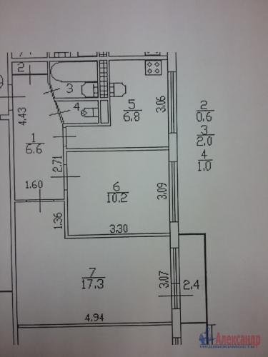 2-комнатная квартира (45м2) на продажу по адресу Ярослава Гашека ул., 10— фото 2 из 15