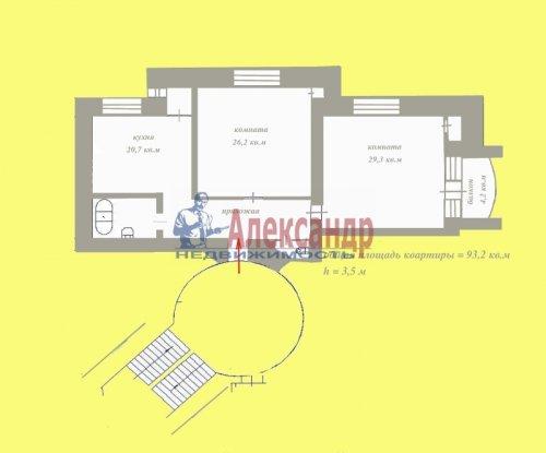 2-комнатная квартира (93м2) на продажу по адресу Боткинская ул., 1— фото 33 из 33
