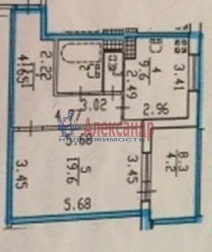 1-комнатная квартира (46м2) на продажу по адресу Науки пр., 17— фото 4 из 12