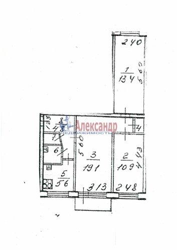 3-комнатная квартира (58м2) на продажу по адресу Добровольцев ул., 48— фото 9 из 9