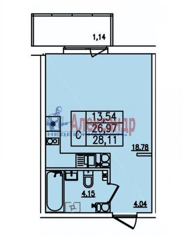 Студия (28м2) на продажу — фото 2 из 2