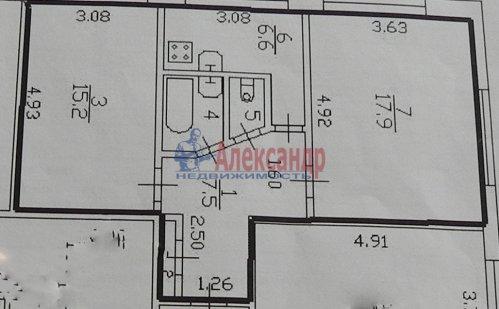 2-комнатная квартира (52м2) на продажу по адресу Подвойского ул., 14— фото 11 из 14
