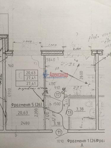 1-комнатная квартира (28м2) на продажу по адресу Новое Девяткино дер., Флотская ул., 7— фото 7 из 7