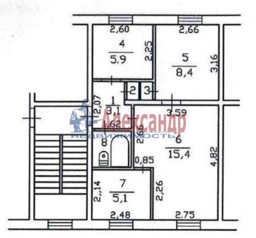 3-комнатная квартира (42м2) на продажу по адресу Свердлова пгт., Микрорайон №2 р-н, 50— фото 23 из 23