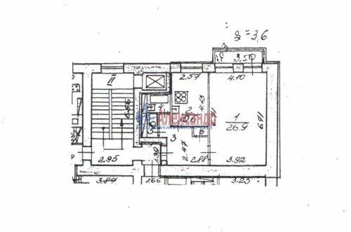 1-комнатная квартира (50м2) на продажу по адресу Лиговский пр., 175— фото 4 из 12