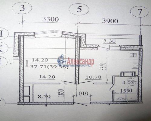 1-комнатная квартира (40м2) на продажу по адресу Сертолово г., Ларина ул., 15— фото 1 из 1