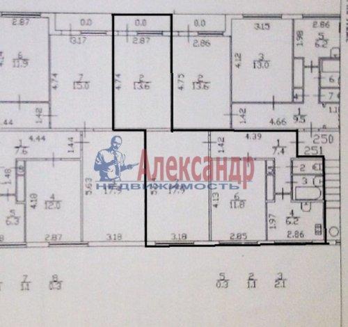 3-комнатная квартира (63м2) на продажу по адресу Луначарского пр., 58— фото 14 из 14