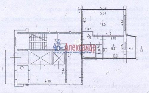 1-комнатная квартира (35м2) на продажу по адресу Ленинский пр., 76— фото 2 из 17